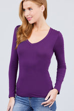 Load image into Gallery viewer, Cotton Jersey V-neck Top