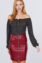 Load image into Gallery viewer, Pu Leather Mini Skirt W/zipper