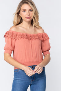 Off Shoulder Lace Detailed Top