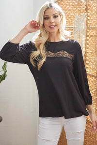 Laced See Through Longsleeve Top
