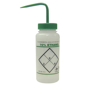 Wash Bottle, 16oz, 70% Ethanol