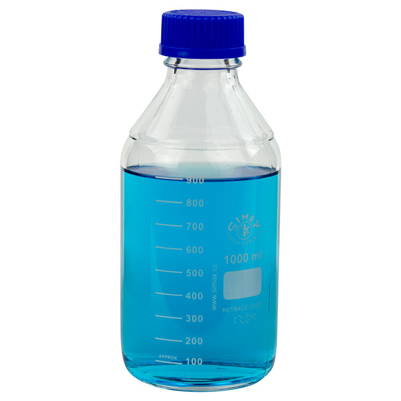 Glass Media Bottle, 1000mL