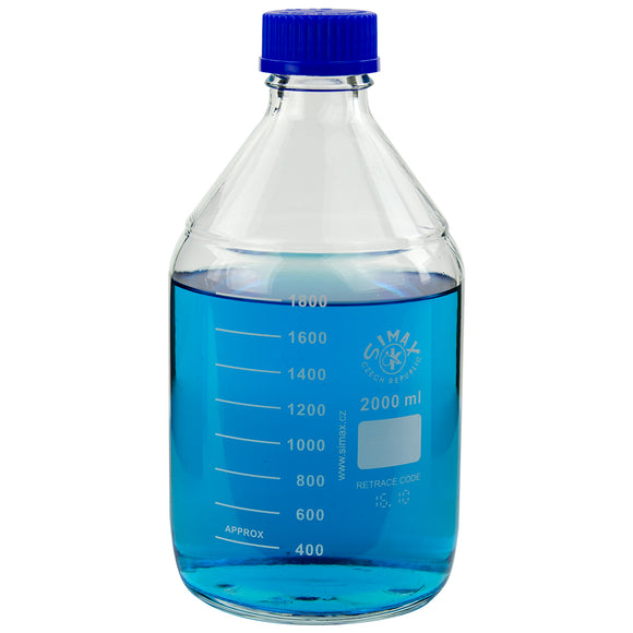 Glass Media Bottle, 2000mL