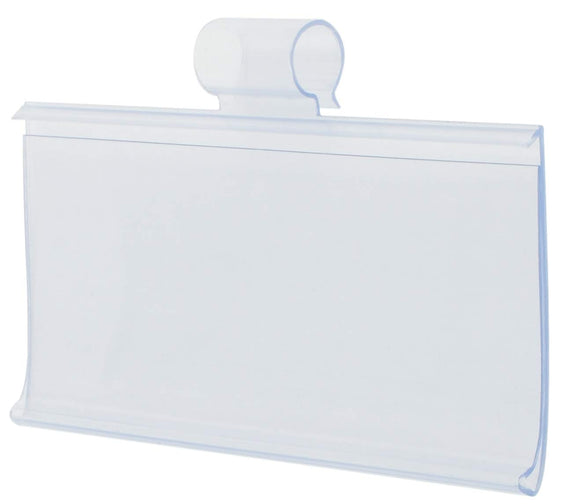 Clear Tube Rack Labels with Clips (100/pack)