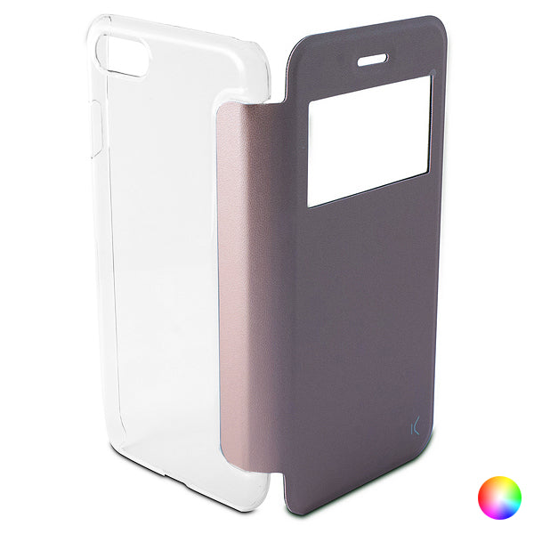 Custodia Folio per Cellulare Iphone 8/7 KSIX Crystal View
