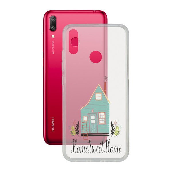 Custodia per Cellulare Huawei Y7 2019 Contact Flex Home TPU