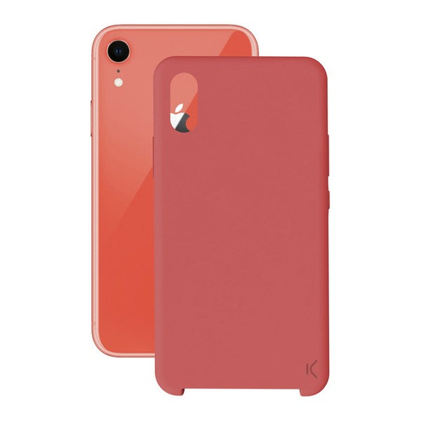 Custodia per Cellulare Iphone Xr KSIX Soft Rosso