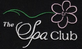 spa club embroidery example