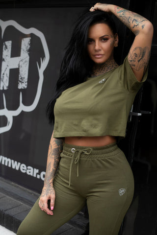 Cropped T Olive