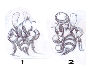 inkify custom artwork bee boxing