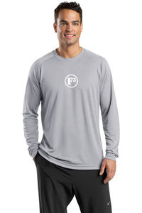 Silver Dry Zone Long Sleeve Raglan T-Shirt