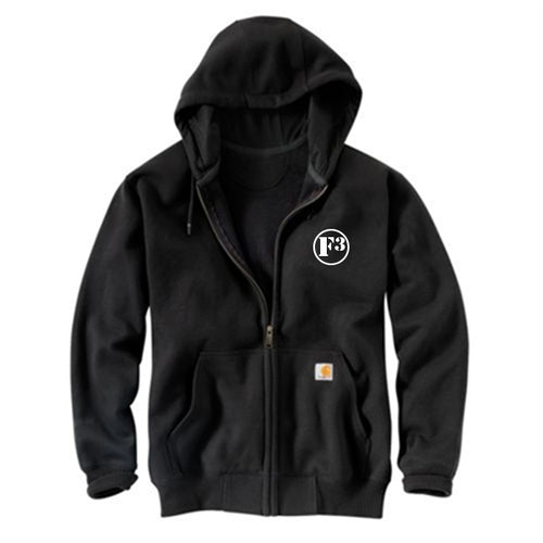 F3 Carhartt Men's Rain Defender Paxton Heavyweight Hooded Zip-Front Sweatshirt - Made to Order