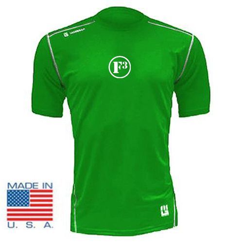 F3 MudGear Fitted Race Jersey V3 Short Sleeve (Military Green) - Made to Order