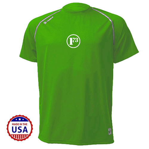 F3 MudGear Loose Tee V3 Short Sleeve (Military Green) - Made to Order
