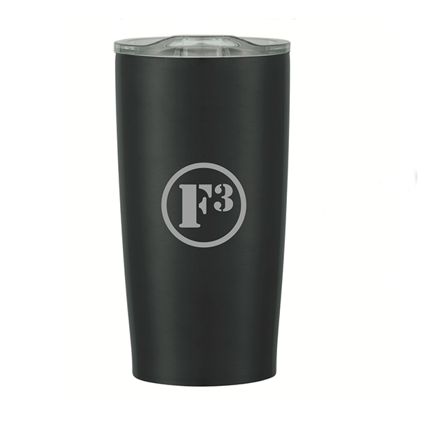 F3 Laser Engraved Stainless Steel Tumbler 20 Oz (Matte Black)