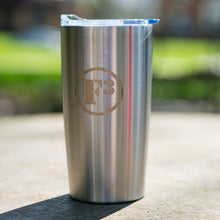 F3 Laser Engraved Stainless Steel Tumbler 20 Oz (Silver)