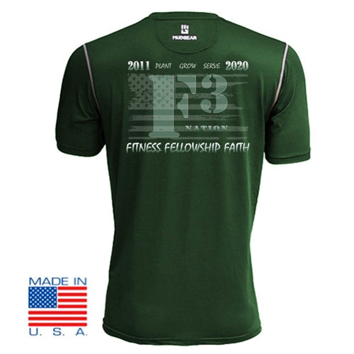 2020 Official F3 Race Jersey - MudGear Green Performance Shirts Pre-Order
