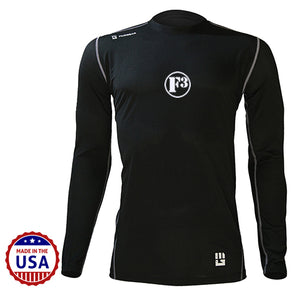 F3 MudGear Fitted Race Jersey V3 Long Sleeve (Black) - Made to Order