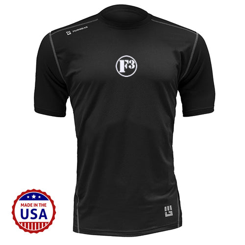 F3 MudGear Fitted Race Jersey V3 Short Sleeve (Black) - Made to Order