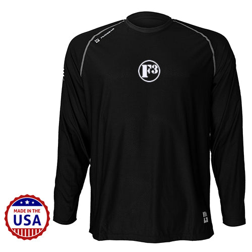 F3 MudGear Loose Tee V3 Long Sleeve (Badass Black) - Made to Order