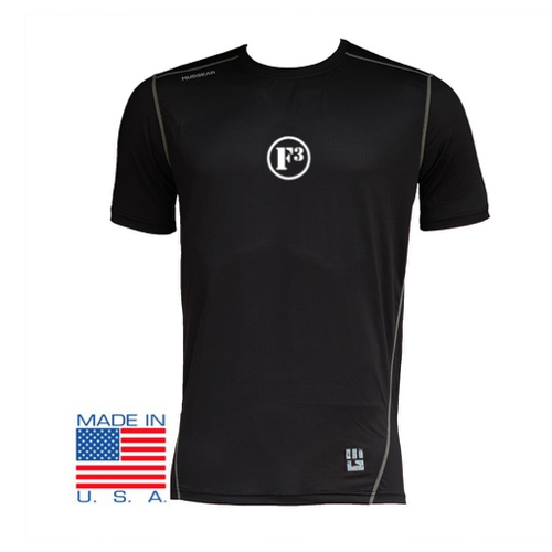 F3 MudGear Fitted Race Jersey v3 Short Sleeve (Black)