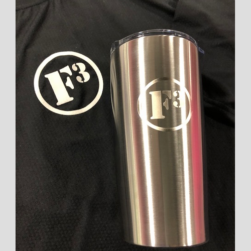 F3 Laser Engraved Stainless Steel Tumbler 20 Oz