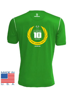 F3 10th Anniversary  MudGear Green Performance Shirts Pre-Order January 2021