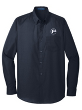 F3 Port Authority Long Sleeve Carefree Poplin Shirt - Made to Order