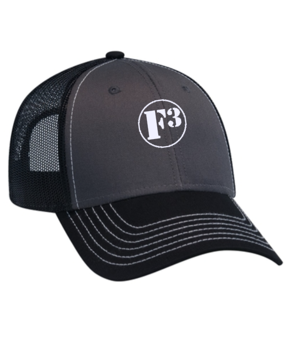 F3 Otto 6 Panel Low Profile Trucker Mesh Cap Pre-Order July 2020
