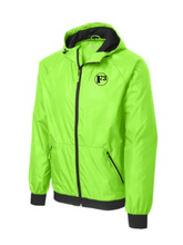 F3 Sport-Tek Embossed Hooded Wind Jacket - High Viz - Made to Order