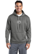 Dark Smoke Grey Sport-Wick Fleece Hooded Pullover