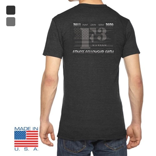 2020 Official F3 Race Jersey - USA Made Tri-Blend Tee Pre-Order