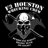 F3 Houston Wrecking Crew White Logo Pre-Order