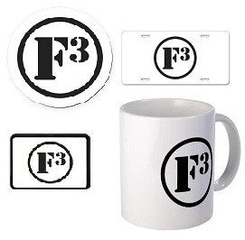 F3 Car Magnets, Mugs, and Promo Items