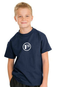 Navy F3 Hanes Youth Tagless Cotton T-Shirt