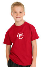 Red F3 Hanes Youth Tagless Cotton T-Shirt
