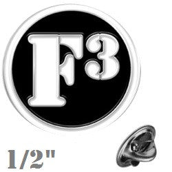 F3 Lapel Pin / Cuff Links
