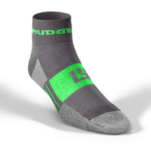 MudGear Trail Socks 1/4 Crew - Gray/Green (2 pair pack)