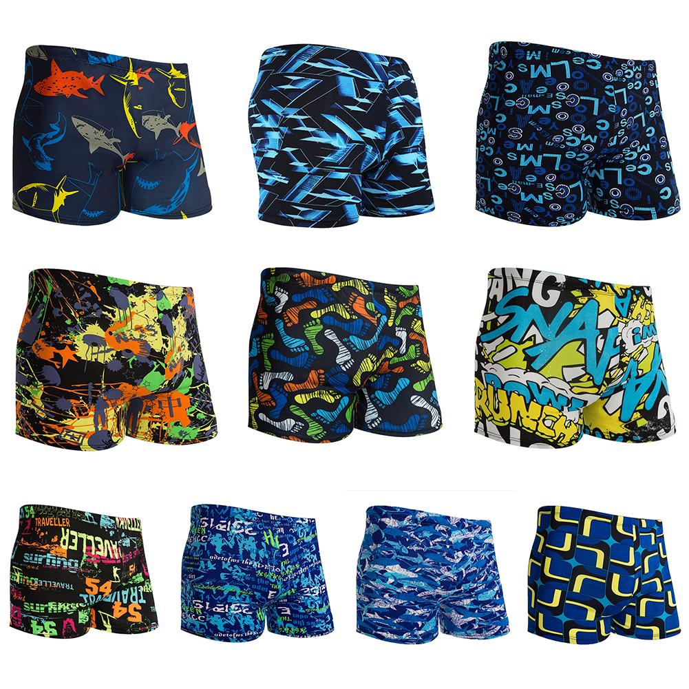 High Quality Men's Swimming Trunks Physical Swimming Pool Hot Spring Beach Swim Trunks Blue Multi-pattern Optional - ArtificialBeast