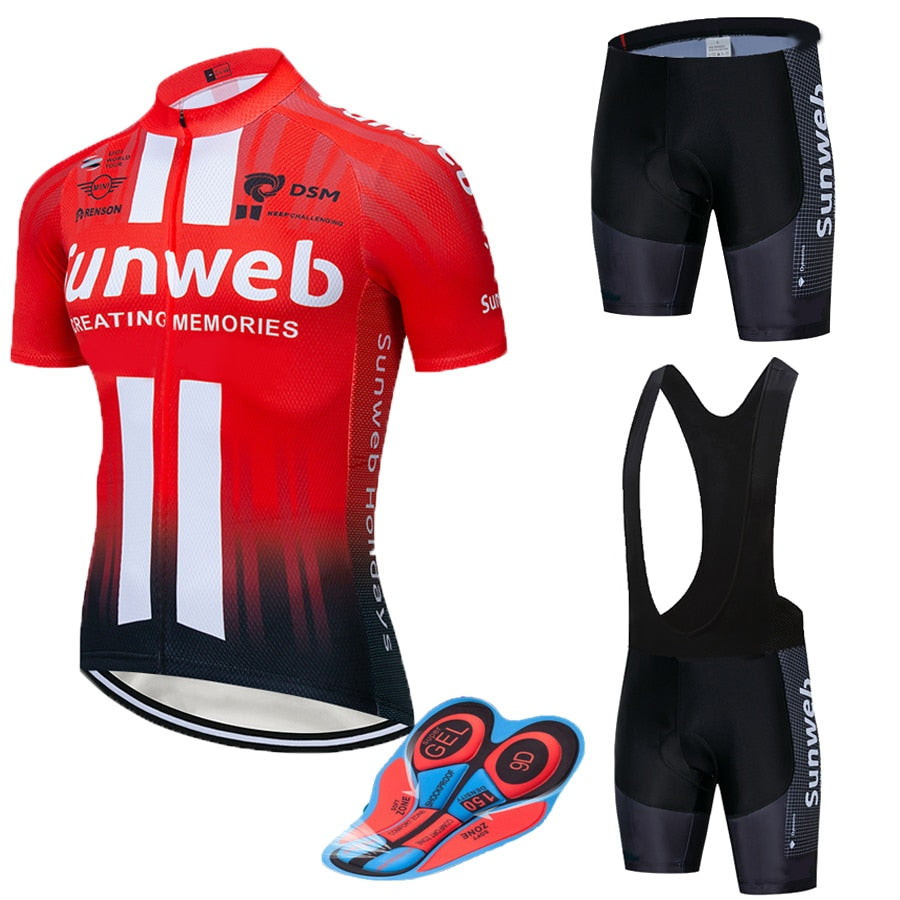 2019 RED SUNWEB pro Cycling wear Bike jersey Quick Dry Bicycle clotheing mens summer team Cycling Jerseys 20D bike shorts set - ArtificialBeast