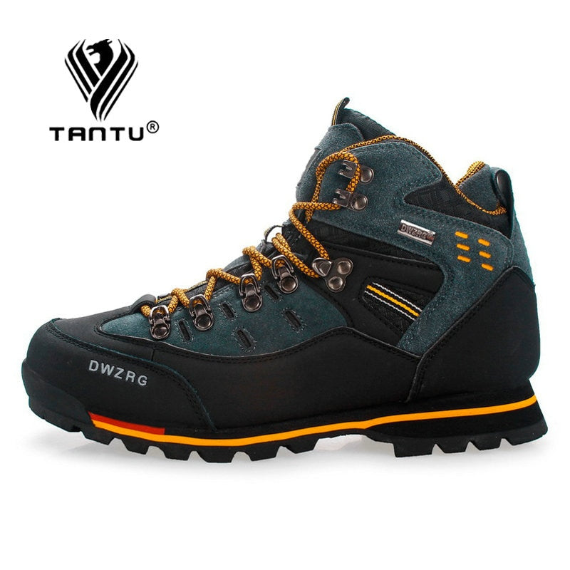 TANTU Men Hiking Shoes Waterproof Leather Shoes Climbing & Fishing Shoes New Popular Outdoor Shoes Men High Top Winter Boots - ArtificialBeast
