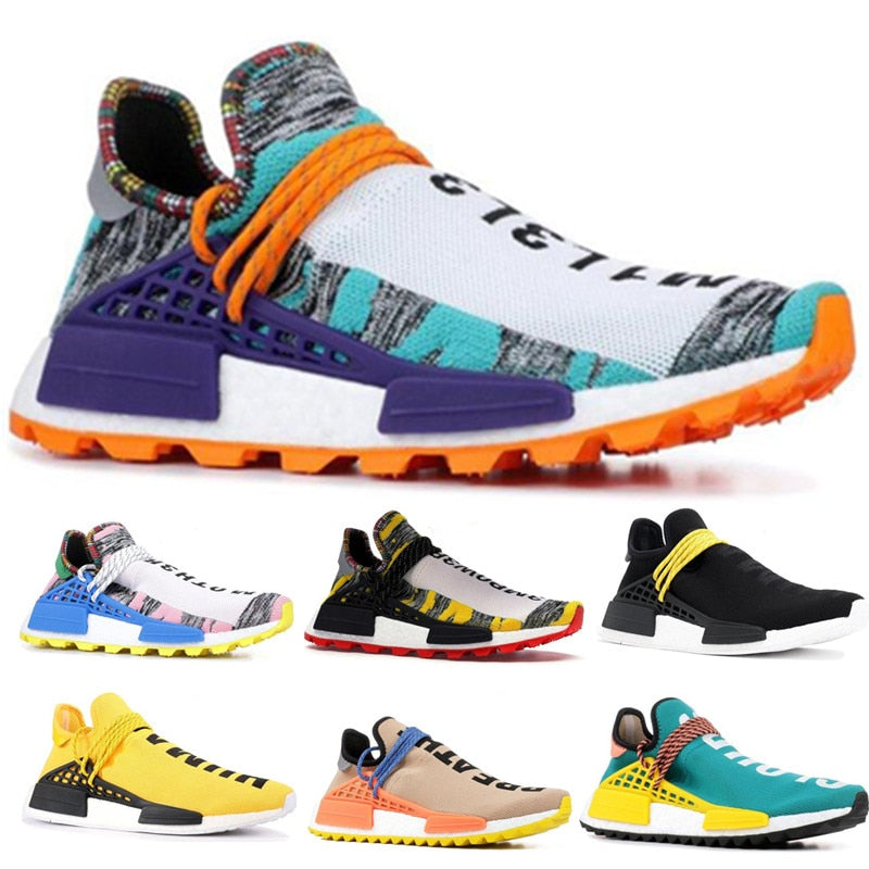 Human Race Running Shoes for Men Women Pharrell Williams White Red Sample Yellow Core Black Trainers Sports Sneakers 40-45 - ArtificialBeast