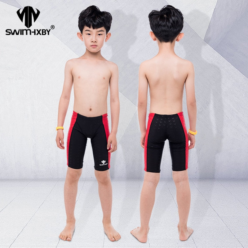HXBY Professional Kids Swimwear Boys Swimsuit Swim Briefs Mens Swim Wear Swimming Trunks Men Swimwear Shorts Swimsuit - ArtificialBeast
