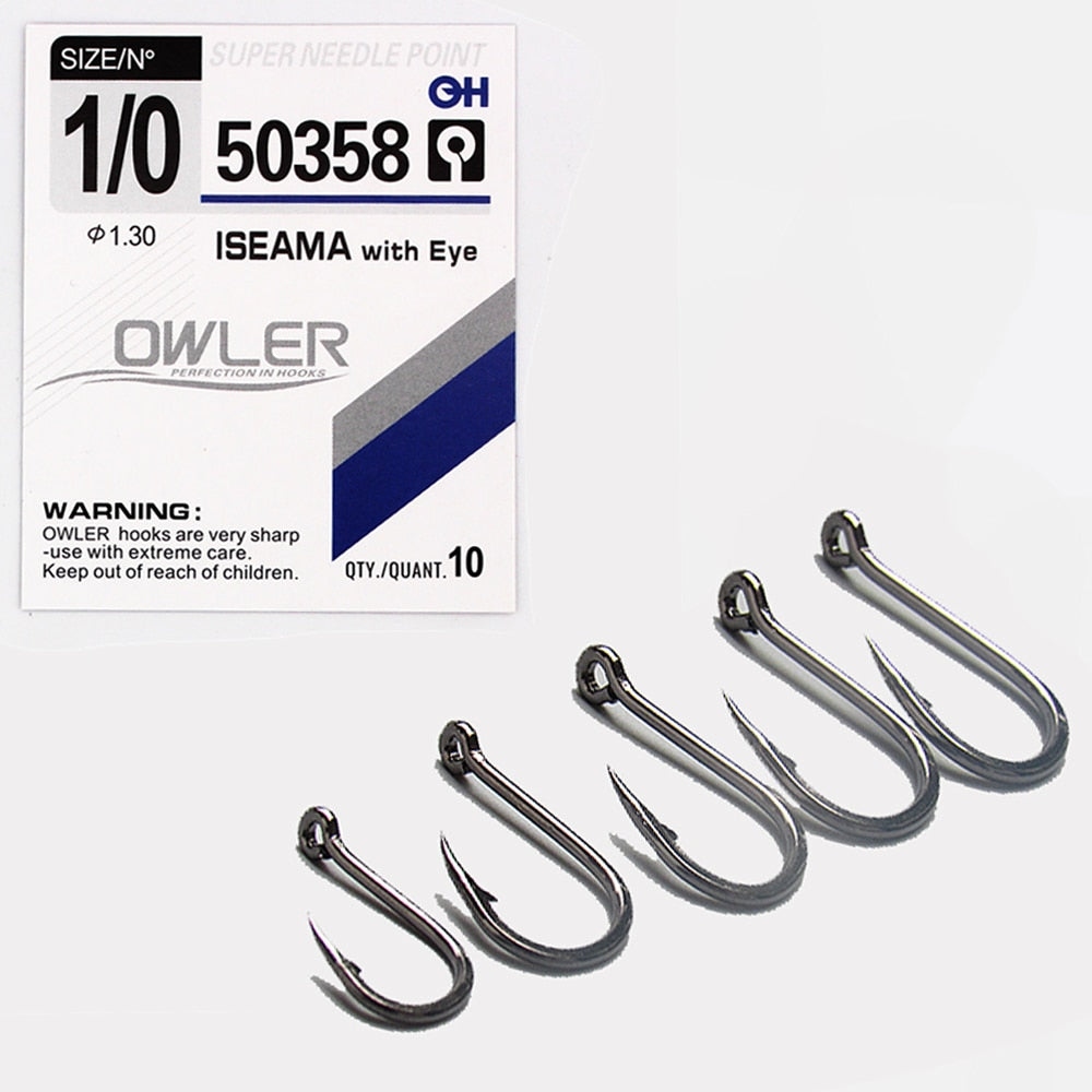 10pcs/lot  High Carbon ISE Fishing Hook ISEAMA With Eye 50358 Carp Catfish Anzol Peche Japan Tackle Fishing hook owner - ArtificialBeast