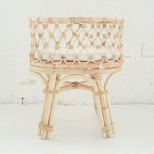 Load image into Gallery viewer, PRE ORDER- Tiny Harlow standard rattan dolls bassinet - Made for Mia
