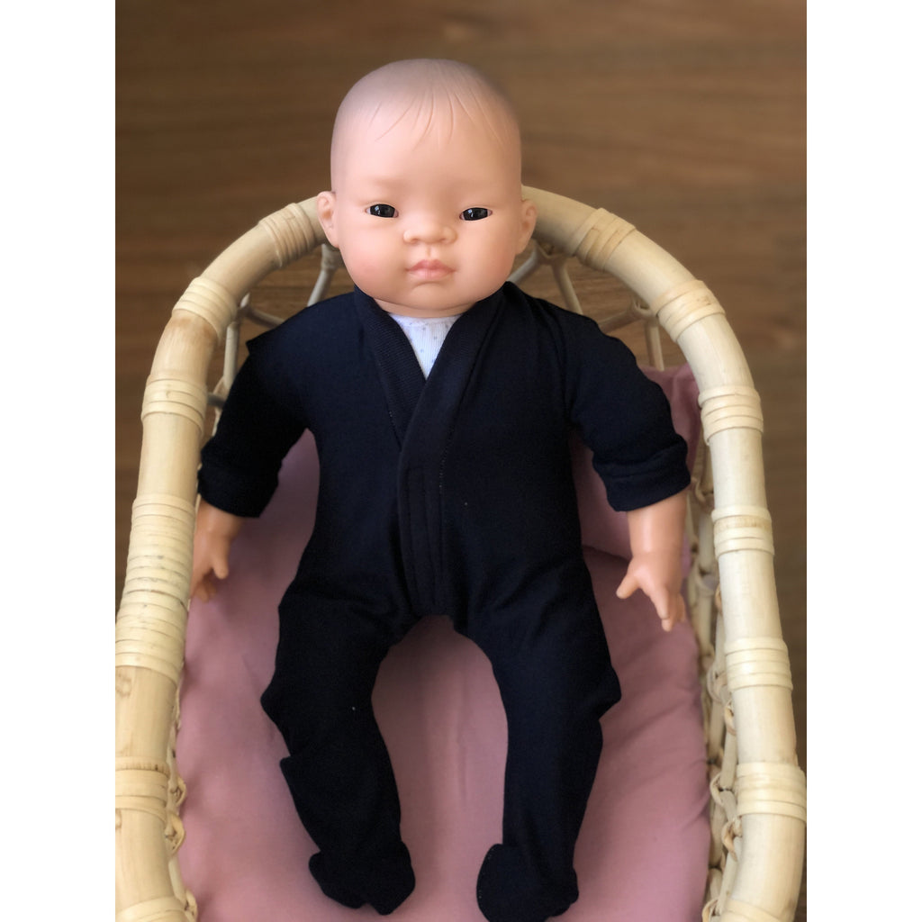 Dolly sleep suit 40cm dolls- Navy - Made for Mia
