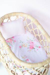 Fitted dolls sheet and pillow- Josie - Made for Mia