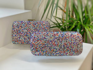 Clutch Cristales Multicolor