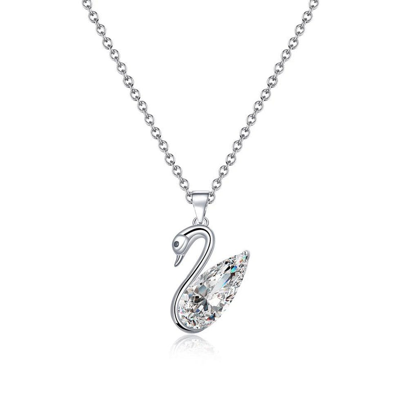 "STERLING SILVER ""SWAN"" NECKLACE"