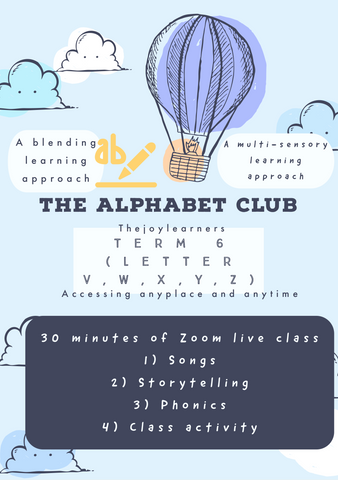 Alphabet Club Term 6 Alphabet  V,W,X,Y,Z